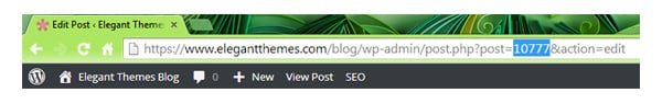 Post ID in Address Bar