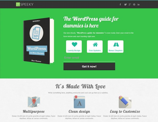 Speeky Landing Page WordPress Theme