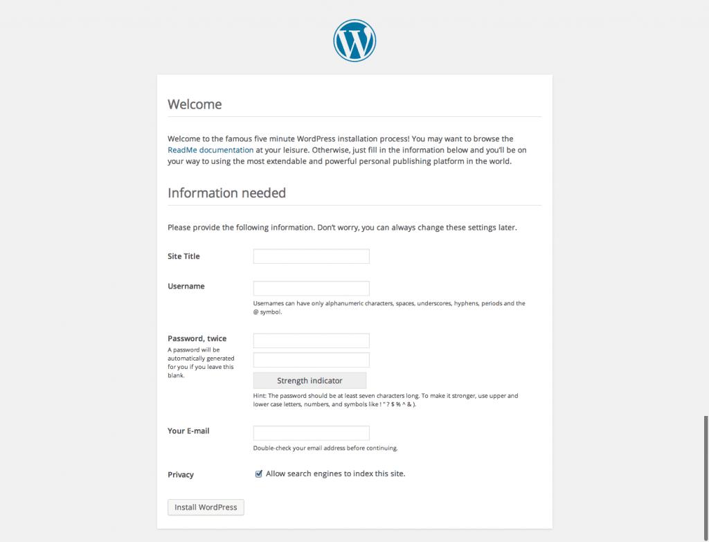 wordpress-5min-install