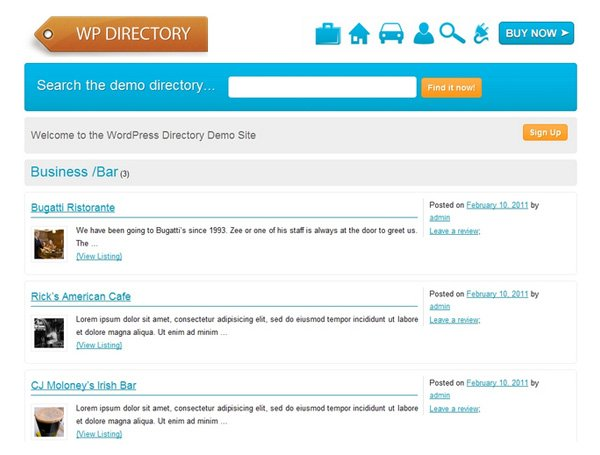 A Collection of Great WordPress Directory Themes and Plugins