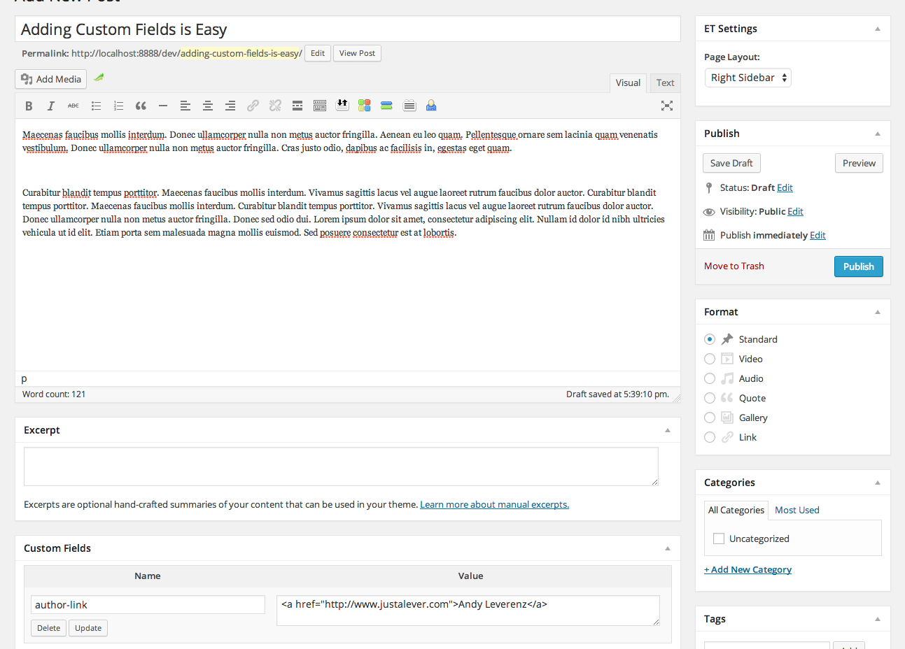 How To Create WordPress Custom Fields | Elegant Themes Blog