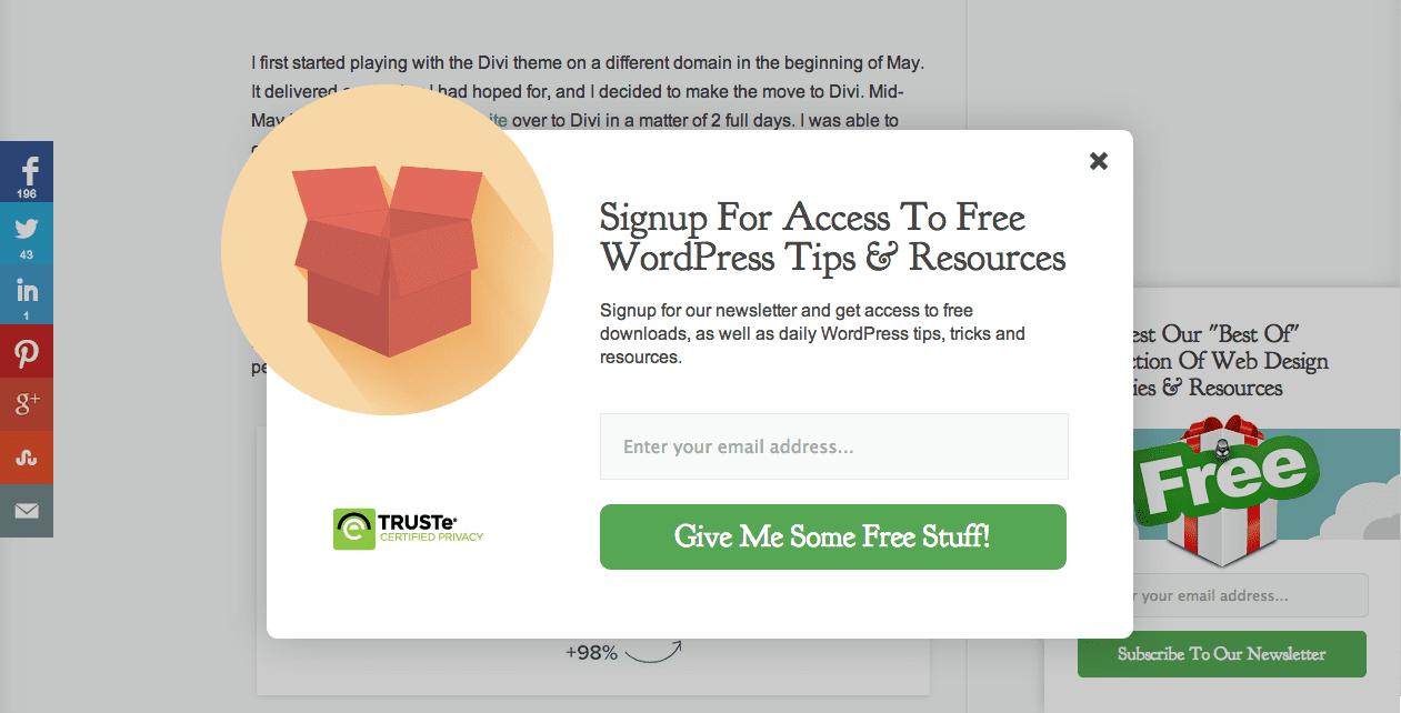 elegant-themes-e-mail-popup