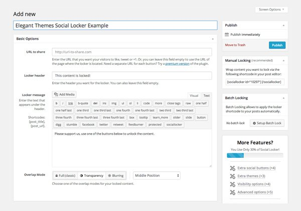 Allowing Visitors to Pay For Content With Social Media