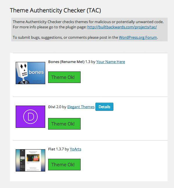 Theme Authenticity Checker