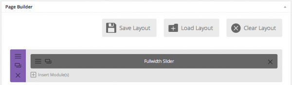 Full width slider module