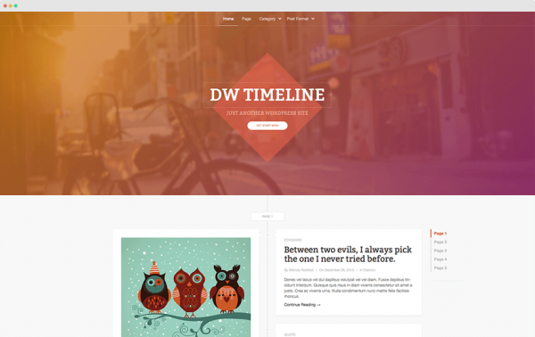 DW Timeline theme by DesignWall