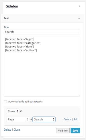 facet-widget