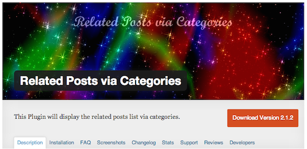 Related Posts via Categories Plugin