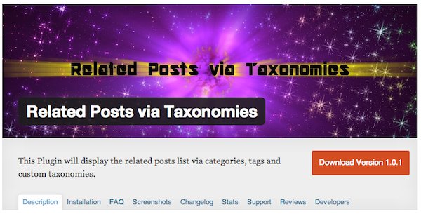 Related Posts via Taxonomies