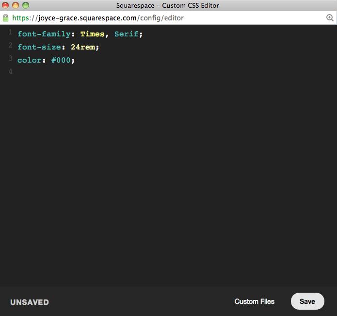 squarespace-css-editor
