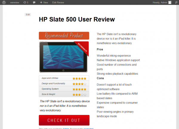 wp book review plugin