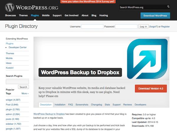 wordpress-backup-dropbox