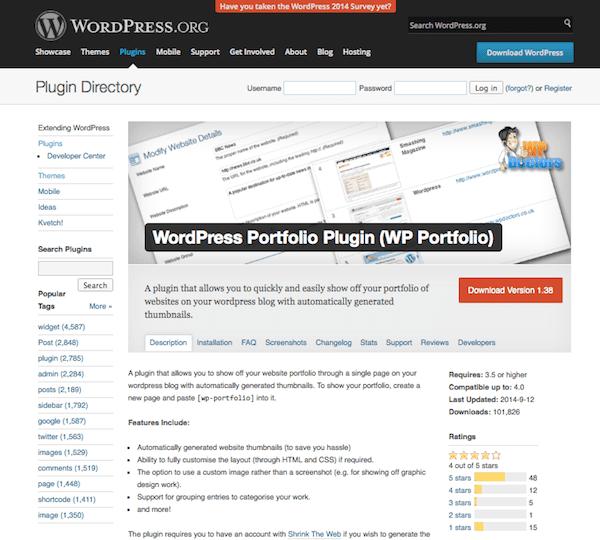 WordPress Portfolio Plugin