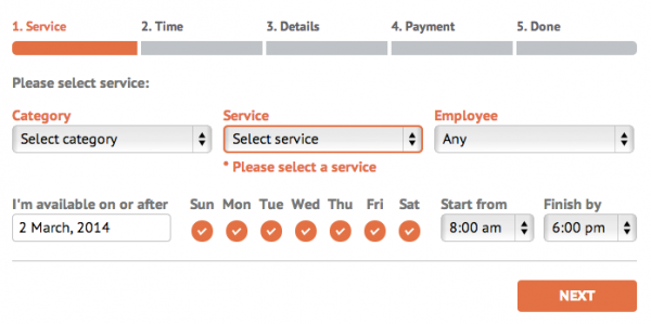 Bookly Appointment and Booking Plugin