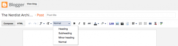 Image of Post Editor In Blogger