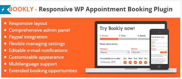 Bookly — Responsive WP Appointment Booking Plugin