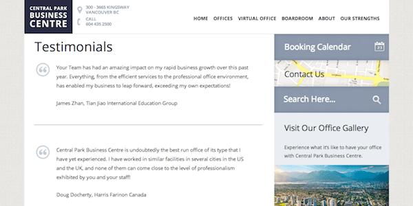 blockquote screenshot using blockquote for testimonials and quotation symbol icon