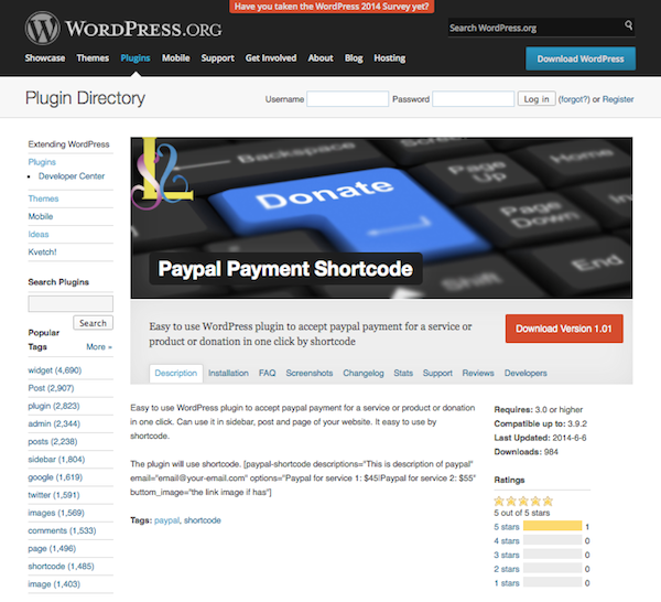 paypal-payment-shortcode