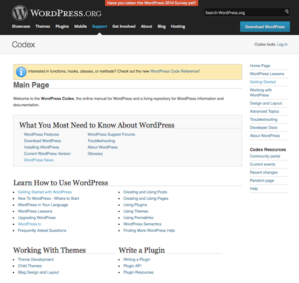 wordpress-codex