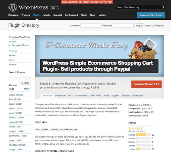 wordpress-simple-ecommerce-shopping-cart