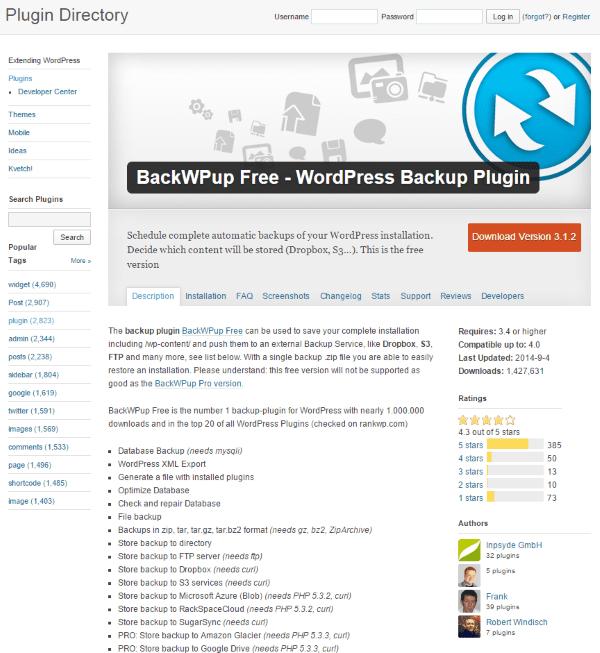 BackWPup Free