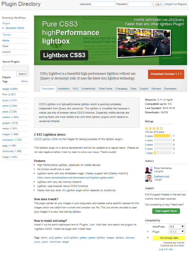Lightbox CSS3