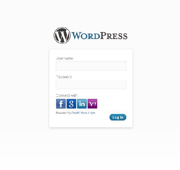 Social-Login-WordPress-Login-Screen