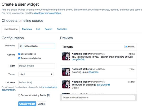Twitter-Widgets-Configurator