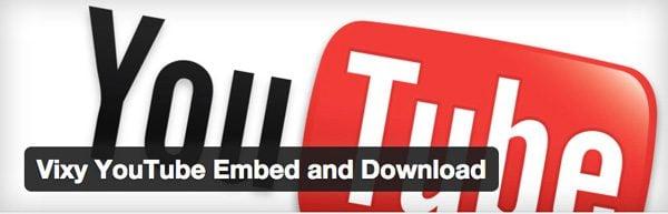 Vixy YouTube Embed plugin