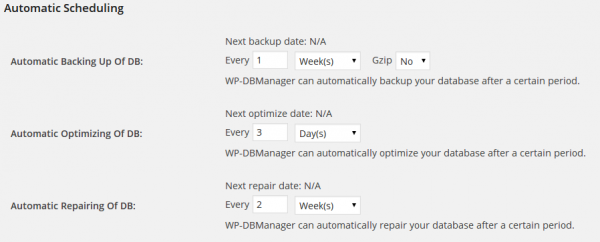 Automatic scheduling for your database maintenance