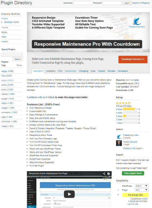 Why You Should Use WordPress Countdown Plugins - Responsive Maintenance Pro with Countdown