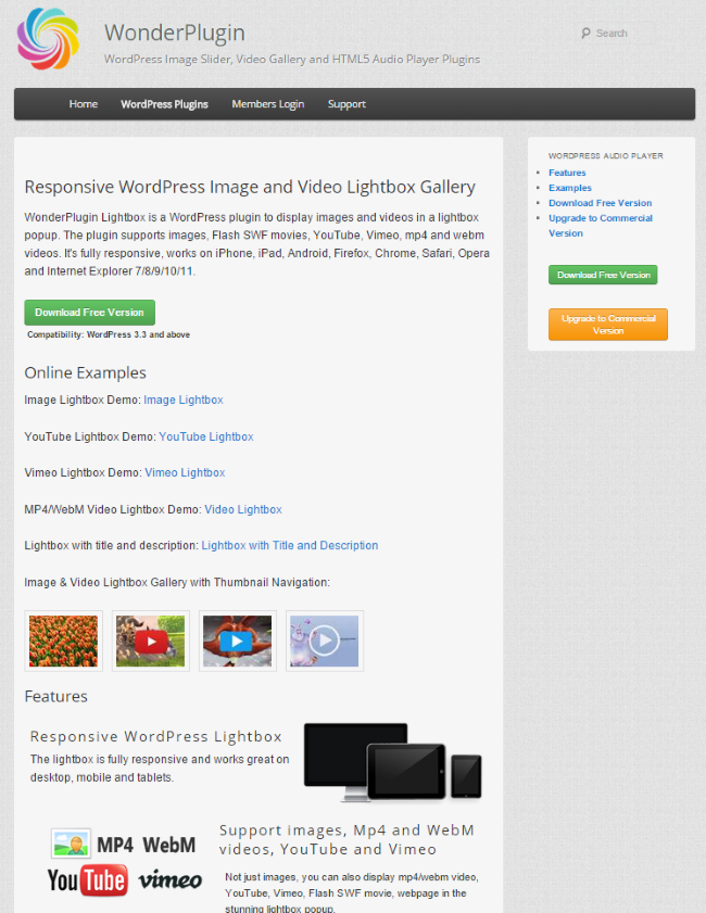 WonderPlugin Lightbox
