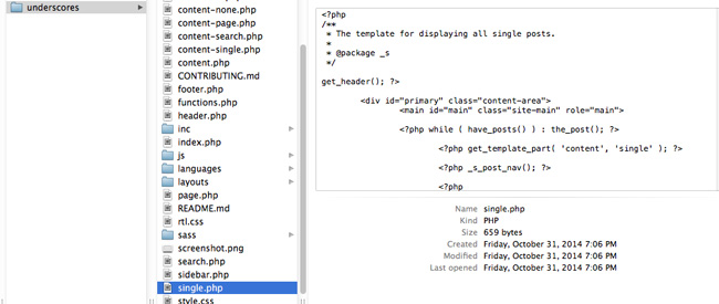 Single PHP file example