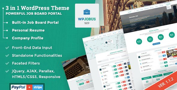WPJobus Theme: A 3 in 1 Job Board Theme for WordPress