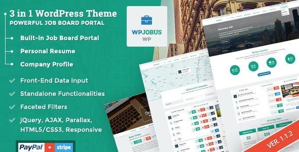 WPJobus Theme: A 3 in 1 Job Board Theme for WordPress