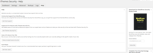 Everything You Need to Know About the iThemes Security Plugin - Help