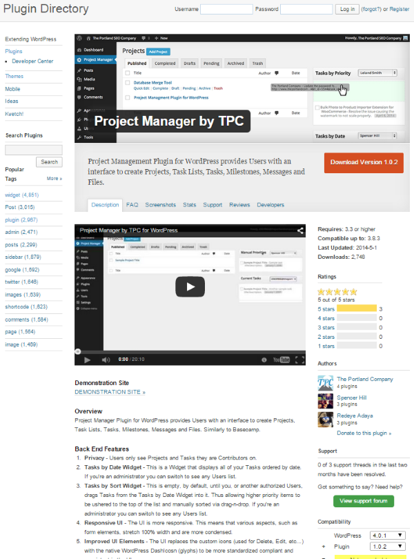 Goal Setting for WordPress Web Designers - Project Manager by TCP