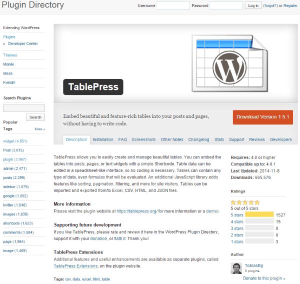 Goal Setting for WordPress Web Designers - TablePress