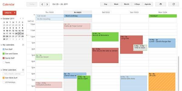 Google Calendar Interface