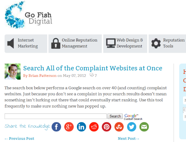 How To Manage and Monitor Your Online Reputation - Search Complaint Websites