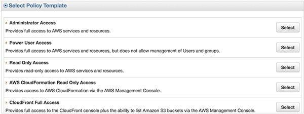 Amazon IAM Console