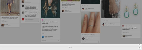 Pinterest infinite scroll