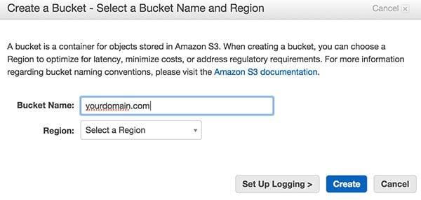 Amazon S3 Create New