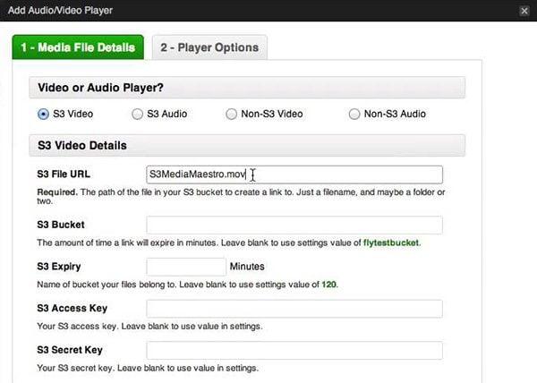 S3 Media Maestro settings
