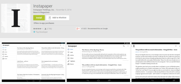 The Best WordPress Android Apps You Probably Aren't Using - Instapaper