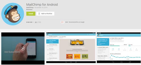 The Best WordPress Android Apps You Probably Aren't Using - MailChimp for Android