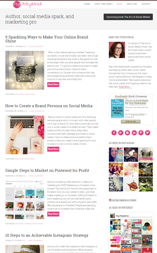 The Top 9 Social Media Blogs You Should Be Reading Right Now - Peg Fitzpatrick
