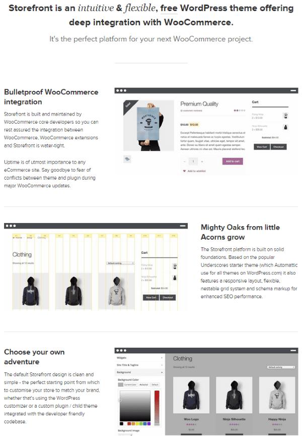 WooCommerce vs Shopify - WooCommerce StoreFront