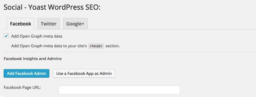 WordPress SEO Plugin settings