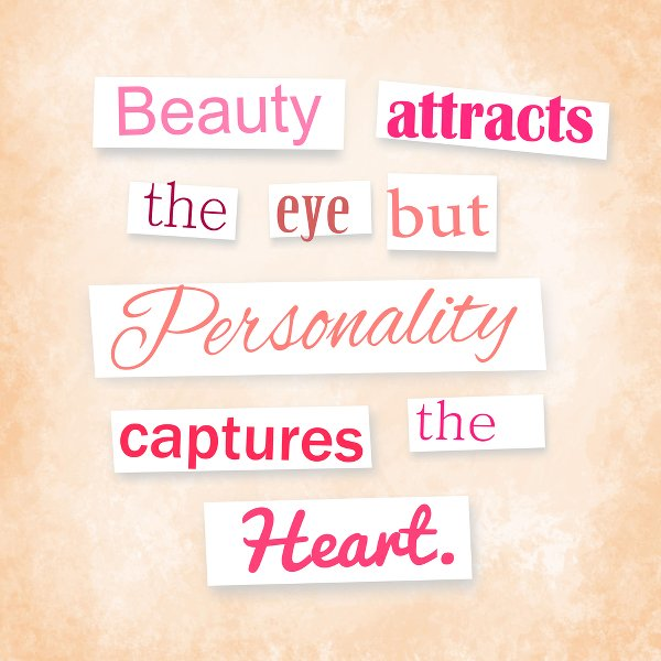 quote about personality - example of web fonts having personality